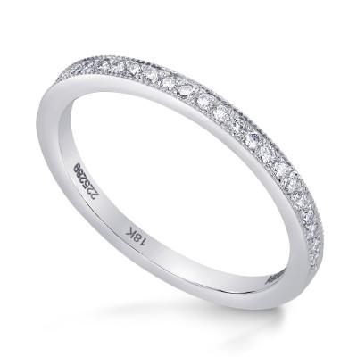 Diamond Wedding Ring with Milgrain Edge (0.17Ct TW)