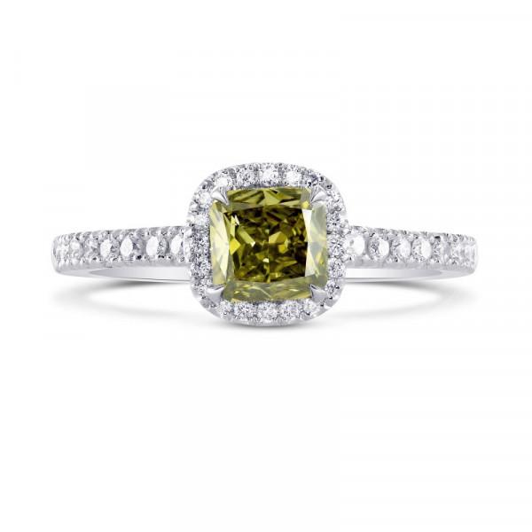 Chameleon Cushion Diamond Halo Ring (0.93Ct TW)