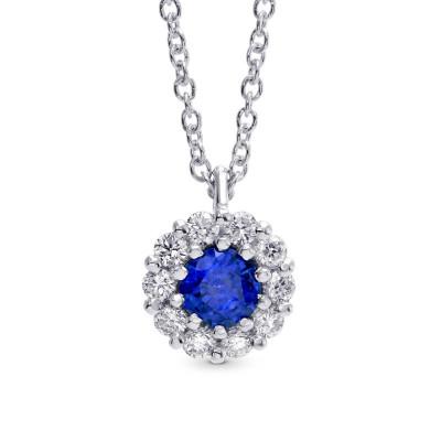 Sapphire & Diamond Pendant (0.36Ct TW)