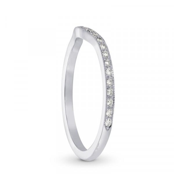 Contoured Milgrain Diamond Wedding Band (0.25Ct TW)