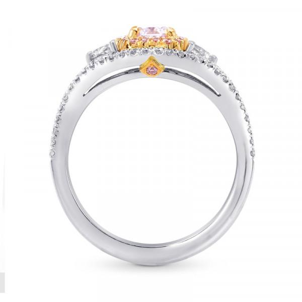 Fancy Light Purplish Pink & Half Moon Diamond Ring (1.15Ct TW)