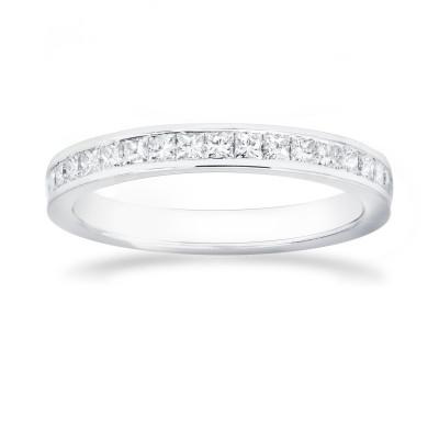Princess Diamond Half Eternity Wedding Ring (0.50Ct TW)
