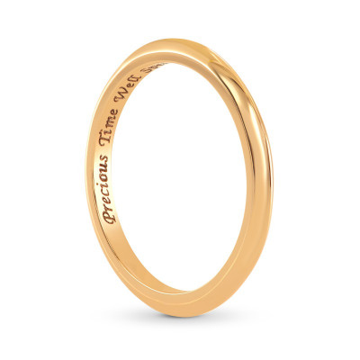 18K Rose Gold Wedding Band Ring