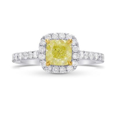 Platinum Fancy Yellow Diamond Engagement & Wedding Ring Set (1.30Ct TW)