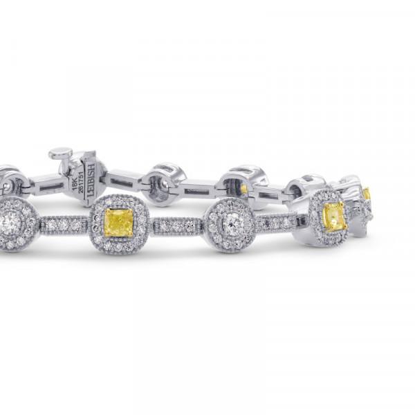 Fancy Intense Yellow Cushion Diamond Bracelet (2.60Ct TW)