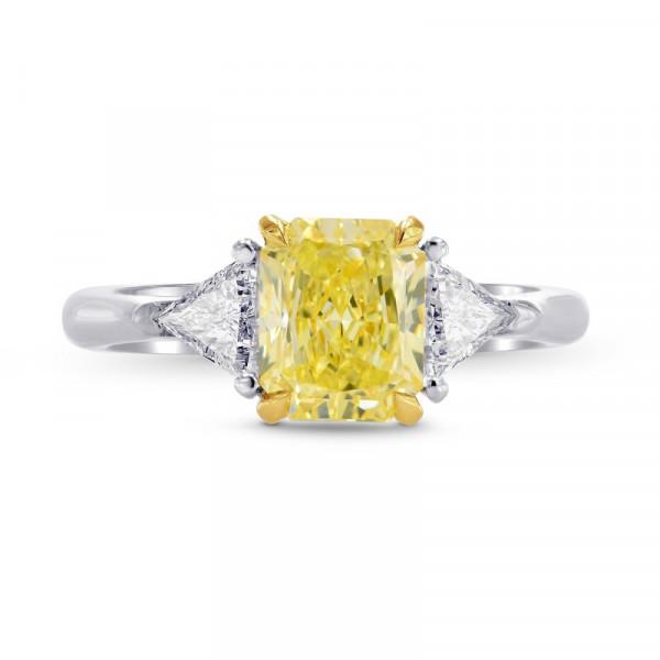 Fancy Yellow Radiant & Triangle  Diamond Engagement Wedding Ring Set (1.80Ct TW)