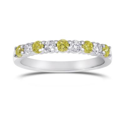 Fancy Yellow Radiant & Trapezoid Diamond Engagement & Wedding Ring Set (2.08Ct TW)