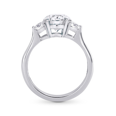 GIA certified, Colorless Round Brilliant 3 Stone Diamond Ring (1.30Ct TW)