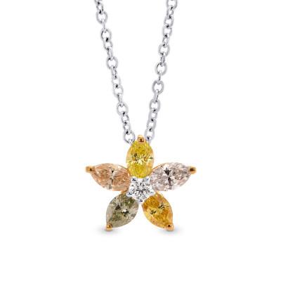 Multicolor Marquise Diamond Pendant (0.47Ct TW)