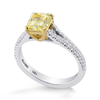 Fancy Yellow Cushion Diamond Ring (1.50Ct TW)