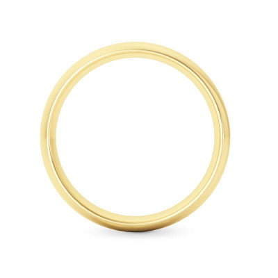 Comfort Fit Domed Wedding Band-4.0MM