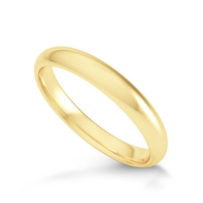 Comfort Fit Domed Wedding Band-3.0MM