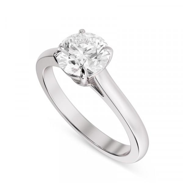 GIA, 0.70Ct Classic Round Brilliant Diamond Solitaire Ring (0.70Ct)