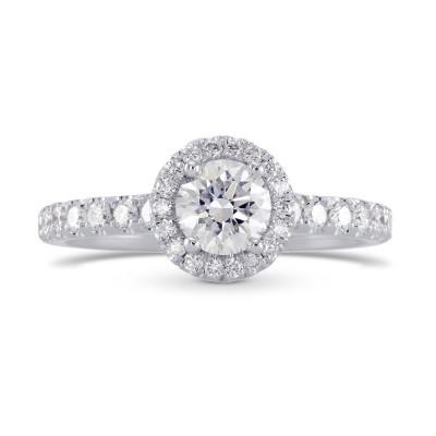 Colorless Round Brilliant Diamond Halo Ring (1.00Ct TW)