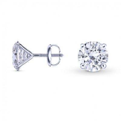 Round Brilliant Diamond Stud Earrings (2.00Ct TW)