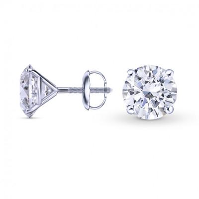 GIA, Round Brilliant Diamond Stud Earrings (1.40Ct TW)