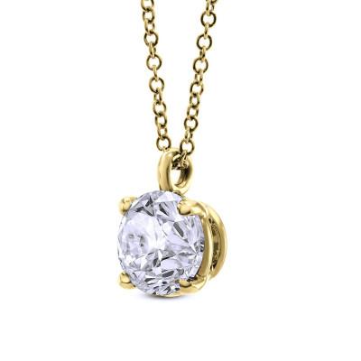 Round Solitaire Diamond Pendant (0.50Ct)