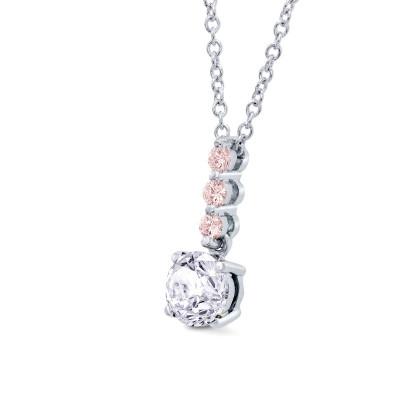 White & Pink Diamond Drop Pendant (0.78Ct TW)
