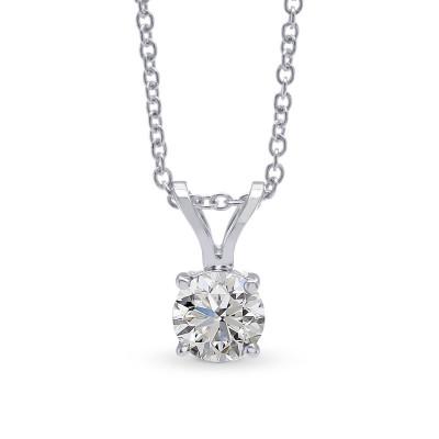 White Round Diamond Solitaire Pendant (0.30Ct)