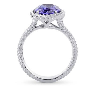 Blue Oval Tanzanite Designer Ring (4.04Ct)
