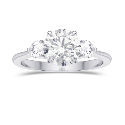 GIA  Round Brilliant 3 Stone Diamond Ring (1.90Ct TW)