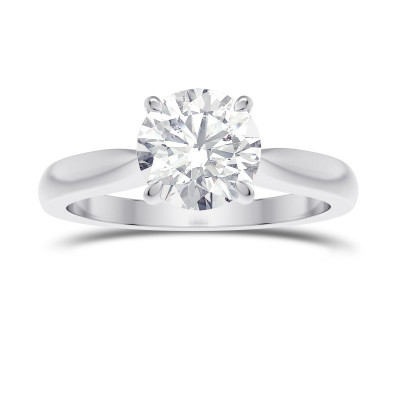 1.00ct. GIA Cathedral Round Brilliant Diamond Solitaire Ring (1.00Ct)