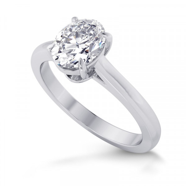 1.00ct. GIA Oval Classic  4 Prong Solitaire Ring (1.00Ct TW)