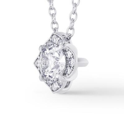 Round Brilliant Diamond Halo Pendant (0.82Ct TW)