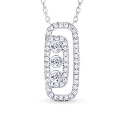 Round Brilliant Diamond Drop Pendant (0.56Ct TW)