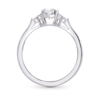 GIA Cushion Diamond Accented Ring (1.10Ct TW)