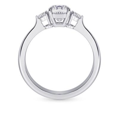 GIA  Colorless Cushion 3 Stone Diamond Ring (1.90Ct TW)