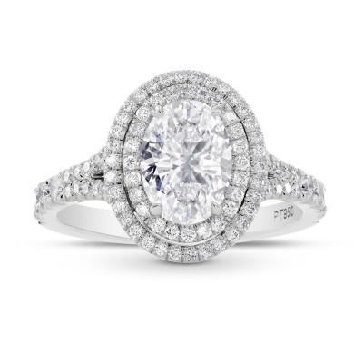 GIA Oval Diamond Double Halo Ring (2.10Ct TW)