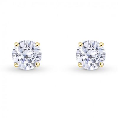 Round Brilliant Diamond Stud Earrings (0.70Ct TW)