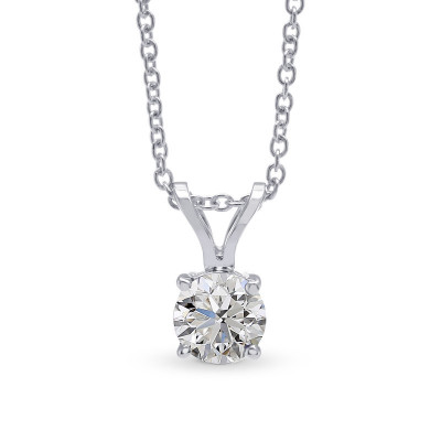 White Round Diamond Solitaire Pendant (0.70Ct)
