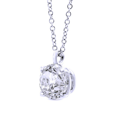 Round Solitaire Diamond Pendant (0.70Ct)