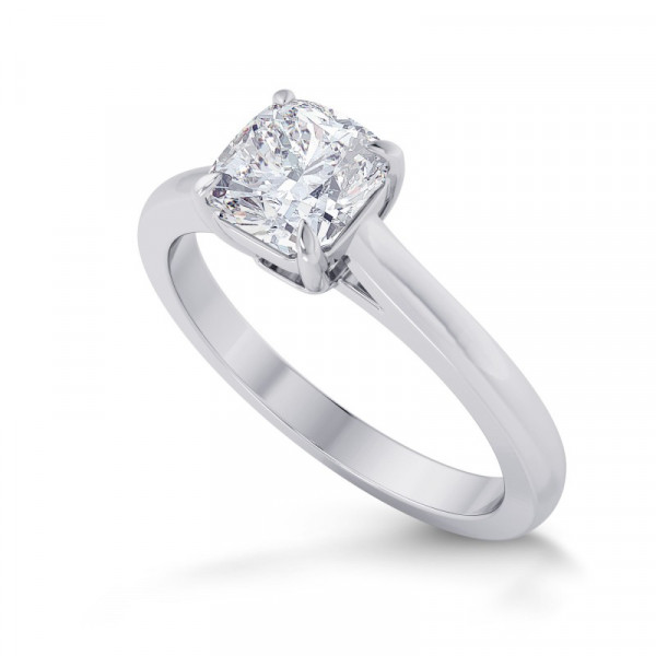 1.00ct. GIA Cushion 4 Prong Classic Solitaire Ring (1.00Ct TW)