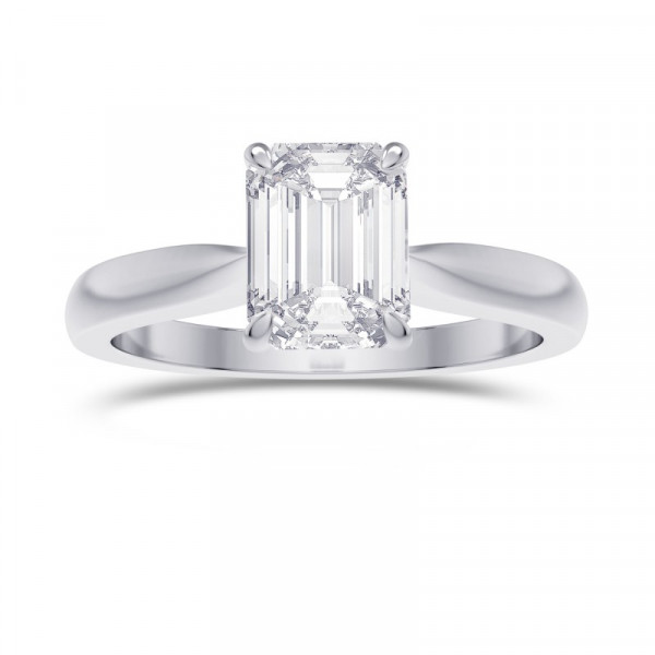 1.00ct. GIA Cathedral Emerald shape Diamond Solitaire Ring (1.00Ct)