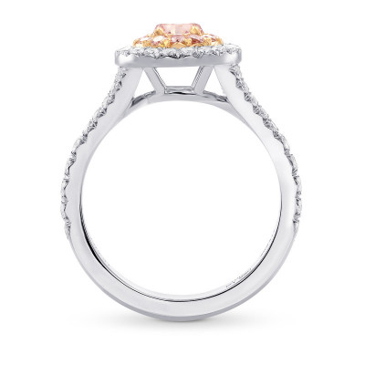 Fancy Intense Pink Round Diamond Halo Ring (1.29Ct TW)