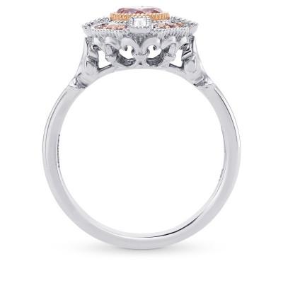 Fancy Intense Purplish Pink Round Diamond Engagement Ring (0.79Ct TW)