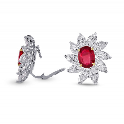 Extraordinary Ruby and Diamond Couture Earrings (16.24Ct TW)