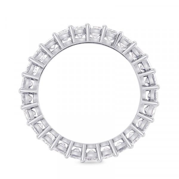 Platinum Emerald-Cut Diamond Full Eternity Band Ring (4.19Ct TW)