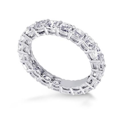 Platinum Cushion-Cut Diamond Full Eternity Band Ring (3.00Ct TW)