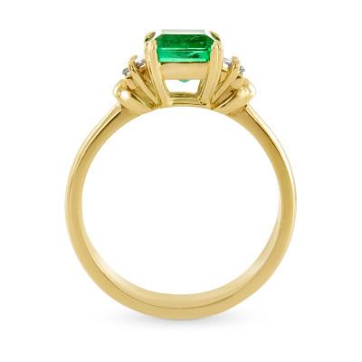 Emerald & Diamond Three Stone Ring (1.57Ct TW)