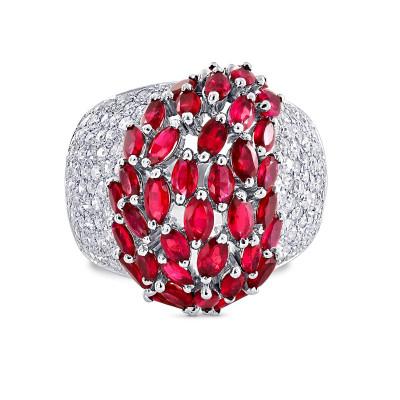 Ruby & Diamond Ring (3.84Ct TW)