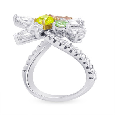Extraordinary Mix color and Colorless Diamond Ring (3.75Ct TW)
