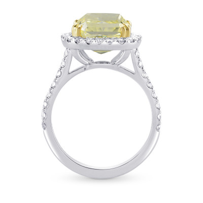 Fancy Yellow Radiant Diamond Halo Ring (5.64Ct TW)