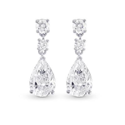Pear Diamond Drop Earrings (2.50Ct TW)