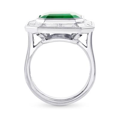 Octagonal Emerald and  Diamond Halo Ring (10.48Ct TW)