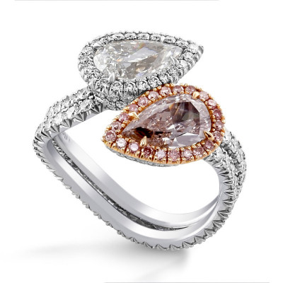 Twin Stone Halo Ring (3.79Ct TW)