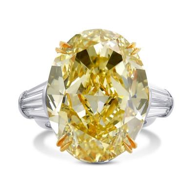 EXTRAORDINARY YELLOW DIAMOND RING (28.47Ct TW)